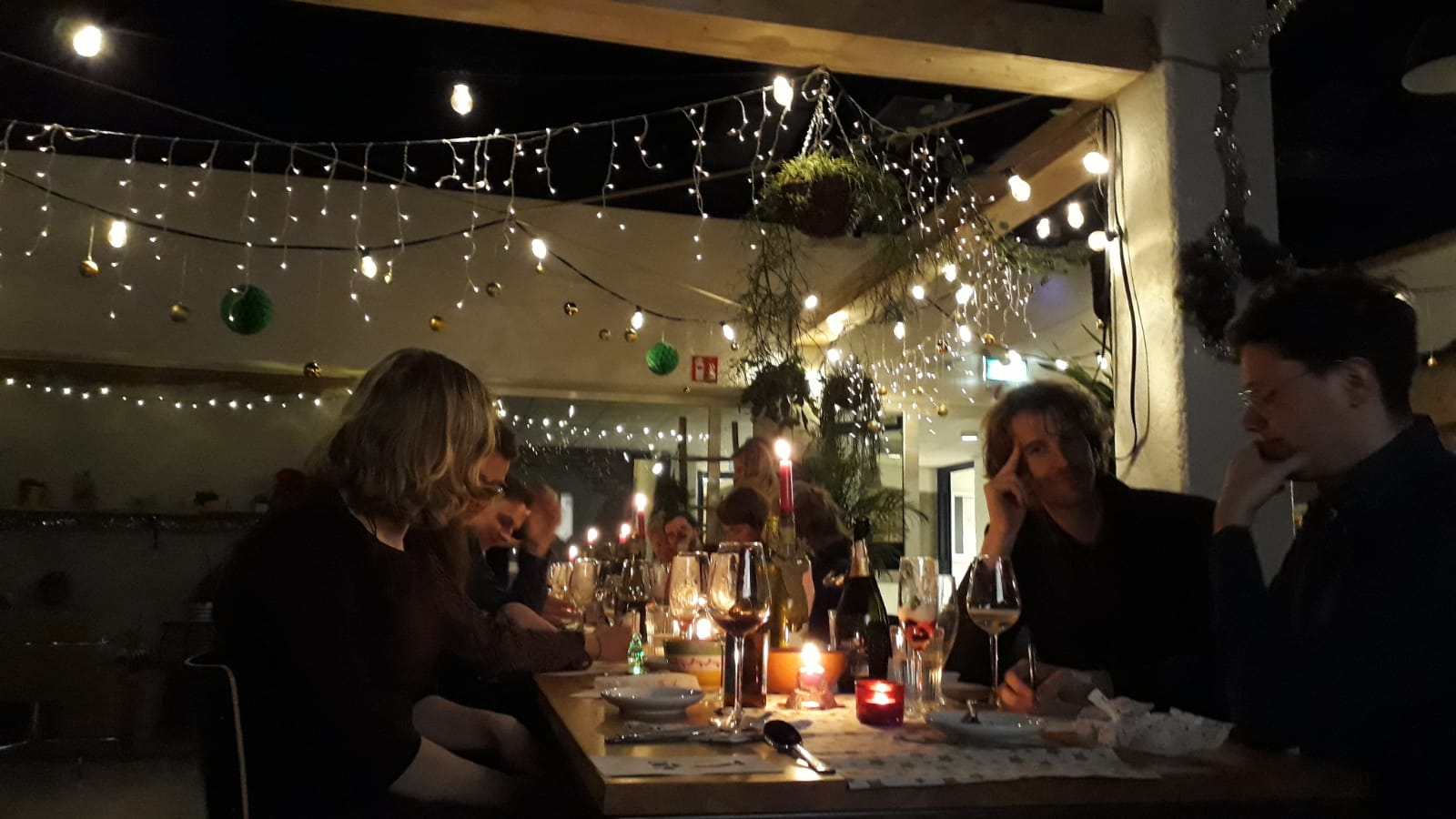 Private dining in de binnentuin